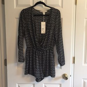 Other - Long Sleeved Shorts Romper